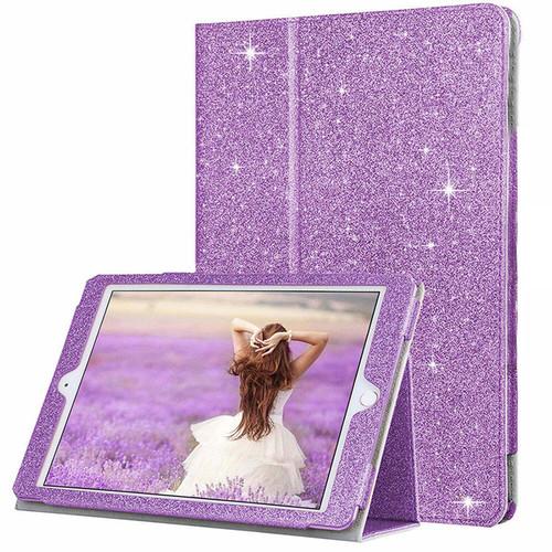 Apple iPad Mini 1 2 3 Purple Glitter Smart  Folio Stand Cover