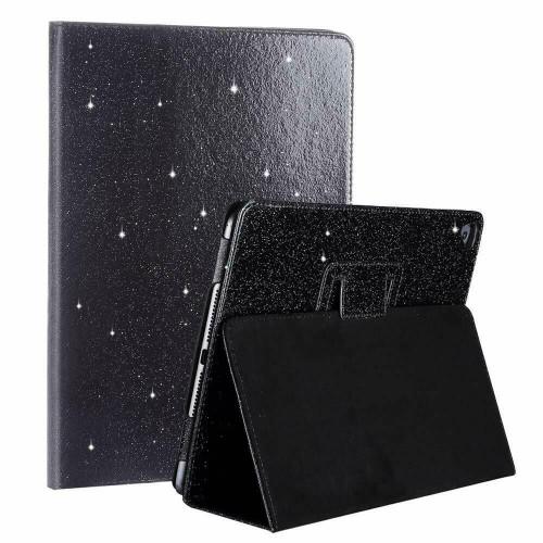 Apple iPad Mini 1 2 3 Black Glitter Smart  Folio Stand Cover