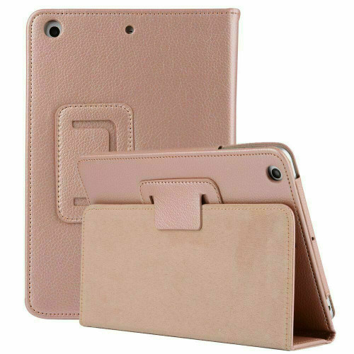 Apple iPad Mini  1 2 3  Smart Leather Tablet Stand Rose Gold Case