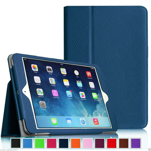 Apple iPad Mini 1 2 3  Smart Leather Tablet Stand Navy Case