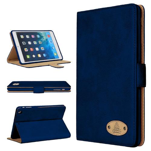 Apple iPad 10.2 7th Generation 2019  Blue Soft Leather Wallet Smart Case