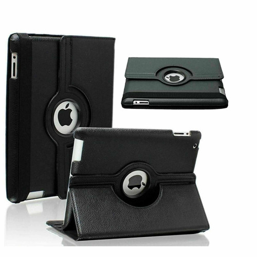 Samsung Galaxy Tab S6 10.5 SM-T860 T865 360 Rotating Leather Stand Smart Black Case