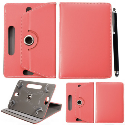 Samsung Galaxy Tab S6 10.5 SM-T860 865 360 Universal PU Leather Salmon Pink Cover