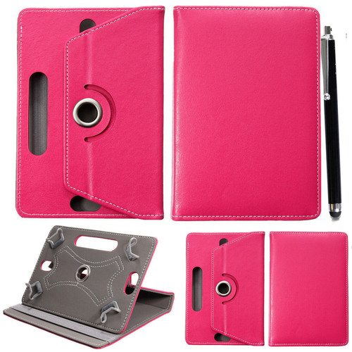 Samsung Galaxy Tab S6 10.5 SM-T860 865 360 Universal PU Leather Pink Cover