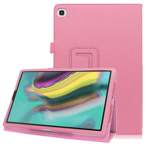 Samsung Galaxy Tab S5E  T720 T725  Pink Leather Folio Stand Cover