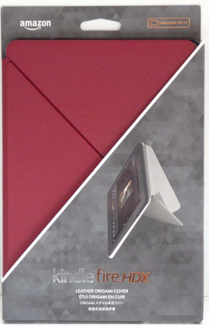 Amazon Kindle Fire HDX 8.9 3rd Gen 2013 Magnetic Standing Folding Origami Luxury Red Case
