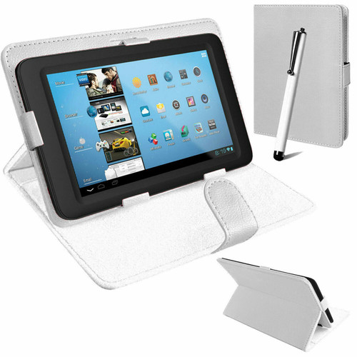 White folding folio PU leather sleek case Samsung Galaxy Tab PRO 10.1 T520 T521 T525)