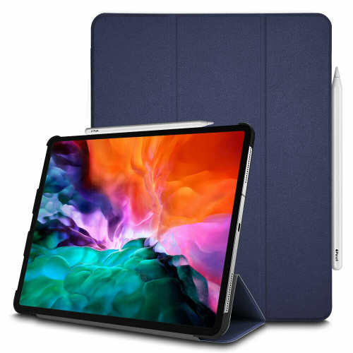 Apple iPad Pro 12.9 (2020) Navy Leather Stand Smart Case