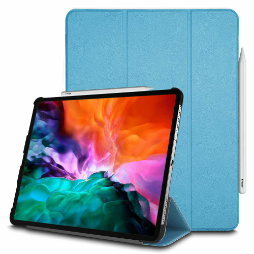 Apple iPad Pro 12.9 (2020) Light Blue Leather Stand Smart Case