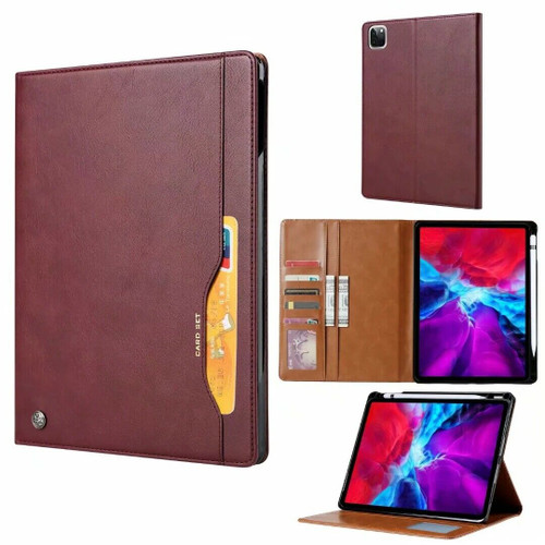 Apple iPad Pro 12.9 (2020) Wine Red Slim Magnetic Smart  Leather Stand Case