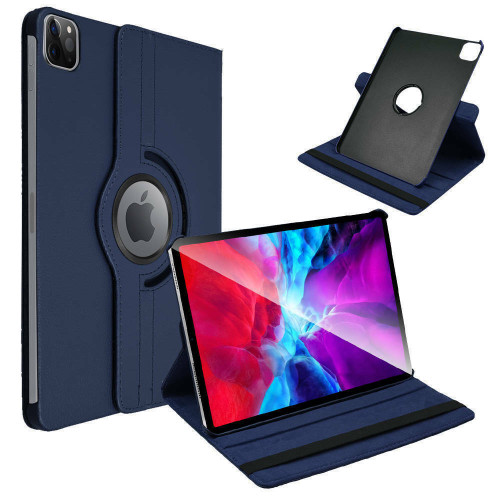 Apple iPad Pro 12.9 (2020)  Blue Leather Rotating Case