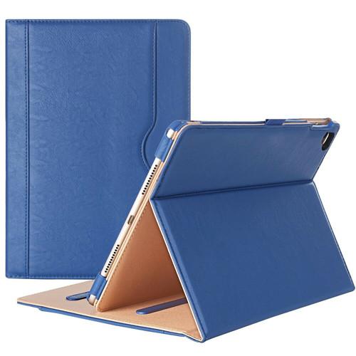 Apple iPad Pro 9.7 2016 Luxury Premium Leather Tablet Folio Navy Blue Stand Cover