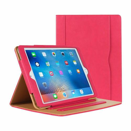 Apple iPad Pro 9.7 2016 Luxury Premium Leather Tablet Folio Pink Stand Cover