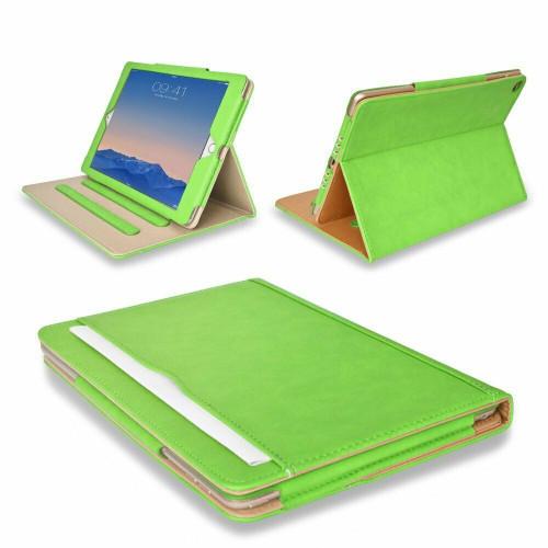 Apple iPad Pro 9.7 2016 Luxury Premium Leather Tablet Folio Green Stand Cover