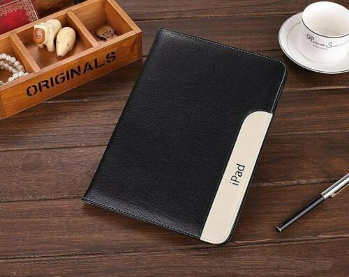 Apple iPad Pro 9.7 2016 soft leather business stand  Black case