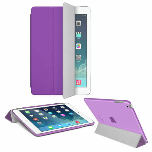 Smart Magnetic Leather Stand Case Purple Cover For Apple iPad Pro 9.7 Released 2016