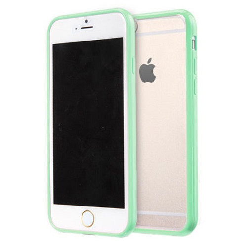 Apple iPhone 7 Plus Clear Transparent Back Hard Case TPU Silicone Bumper Cove Mint
