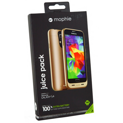 Mophie gold Juice Pack External Battery Charger Case For Samsung Galaxy S5