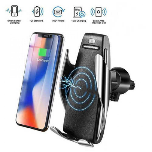 Smart Sensor Car Wireless Charger Stand by QC Qi 10W Fast Charging Holder
