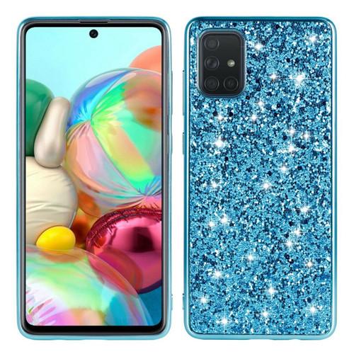 Samsung Galaxy S10e Blue Glitter Bling Soft Phone Back case