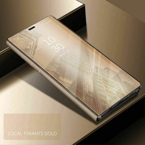 Samsung Galaxy  S10 Plus  Smart Gold Mirror Leather Stand Case
