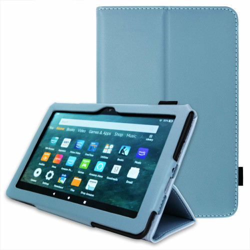 Amazon Kindle Fire HD 8 Plus Tablet 2020 Premium Slim Leather Flip Smart Stand Case Twilight Cover
