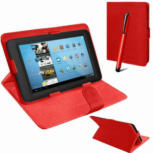 Red universal book flip case leather cover for Samsung Galaxy Tab PRO 10.1 (T520/T525)