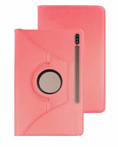 Samsung Galaxy Tab S7 360 Rotate  Smart Premium Book Stand Rose Gold Cover T870 T875 T876B