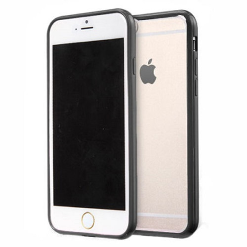 Apple iPhone 8  Clear Transparent Back Hard Case TPU Silicone Bumper Cove Black