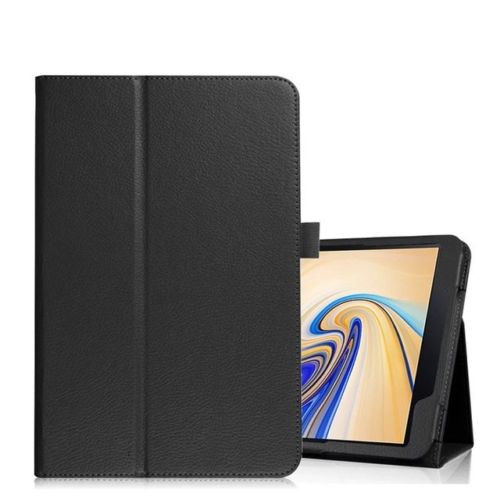 Samsung Galaxy Tab S4 10.5 T830/T835  Black Leather Folio Stand Cover