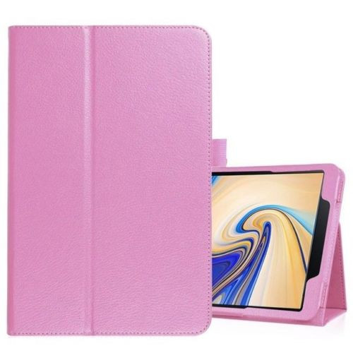 Samsung Galaxy Tab S4 10.5 T830/T835  Pink Leather Folio Stand Cover