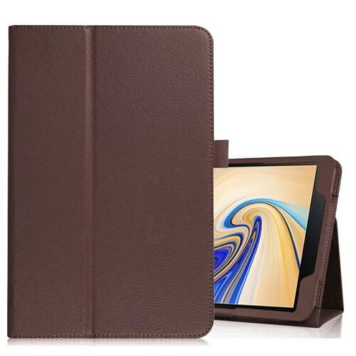 Samsung Galaxy Tab S4 10.5 T830/T835  Brown Leather Folio Stand Cover