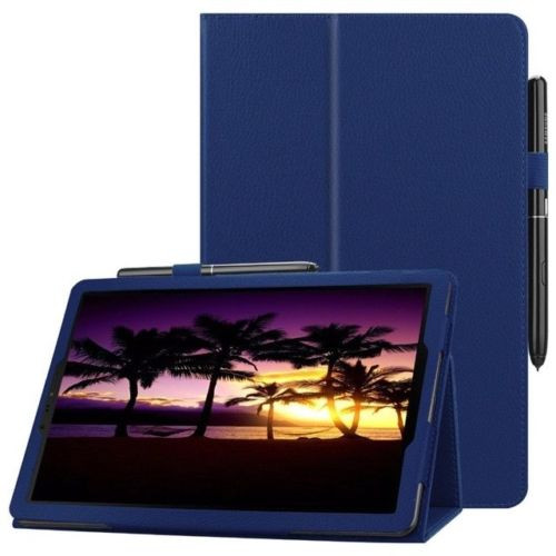 Samsung Galaxy Tab S4 10.5 T830/T835  Navy Blue Leather Folio Stand Cover