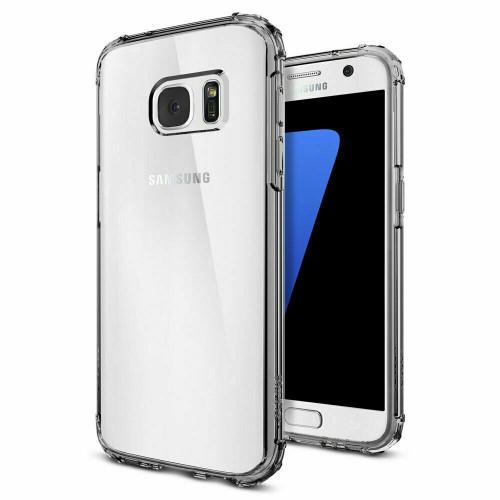 Spigen Samsung Galaxy S7  Crystal Shell  Reinforced Corners TPU Cover - Dark Crystal