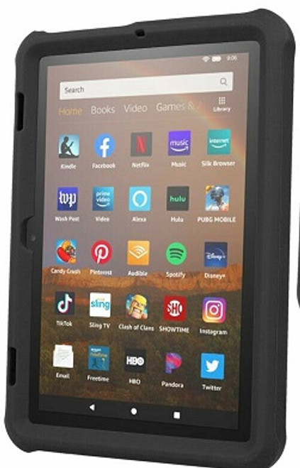 Amazon Kindle Fire HD 8 8Plus Tablet 2020  Black Shockproof Rugged Durable Bumper Case