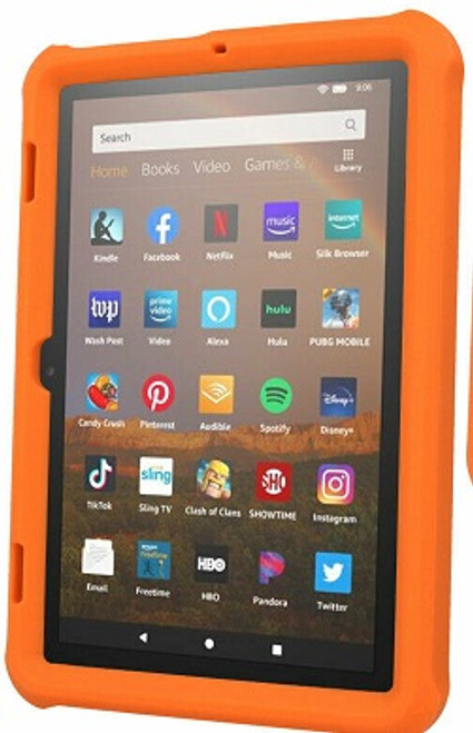 Amazon Kindle Fire HD 8 8Plus Tablet 2020 Orange  Shockproof Rugged Durable Bumper Case