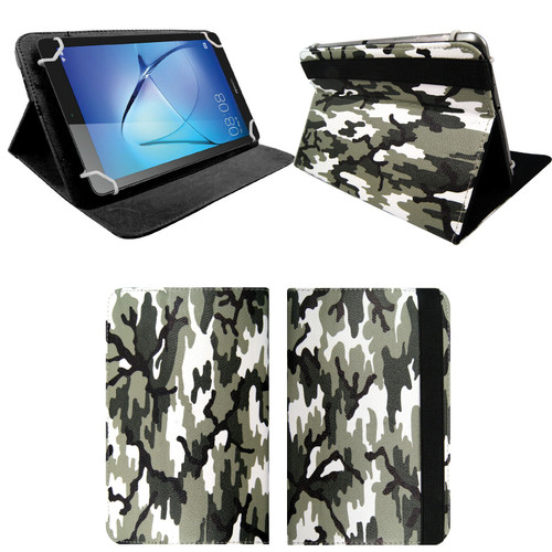 Amazon Kindle Fire HD 8 8Plus 2020 Army camouflage  Smart Leather Stand Cover Case