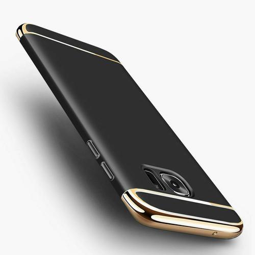 Samsung Galaxy A3  2017  Black & Gold Luxury Slim Shockproof Bumper Cover
