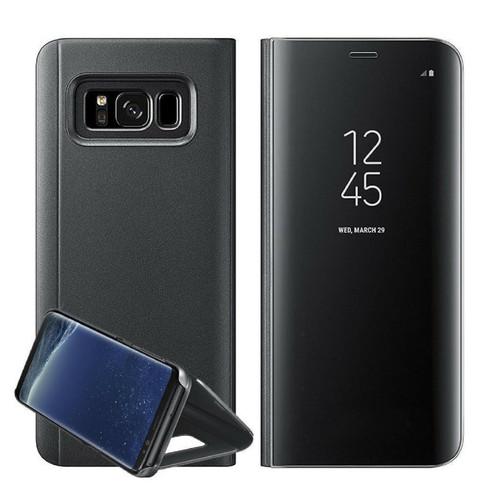 Samsung Galaxy A3  2017  Black  Smart View Mirror Flip Stand Case Cover