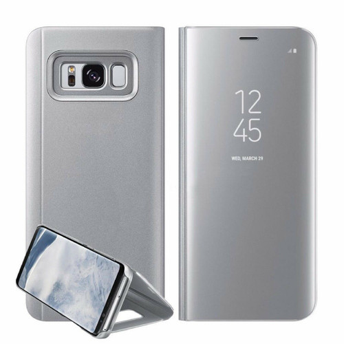 Samsung Galaxy A3  2017  Silver  Smart View Mirror Flip Stand Case Cover