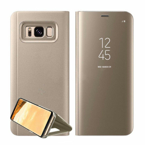 Samsung Galaxy A3  2017  Gold  Smart View Mirror Flip Stand Case Cover