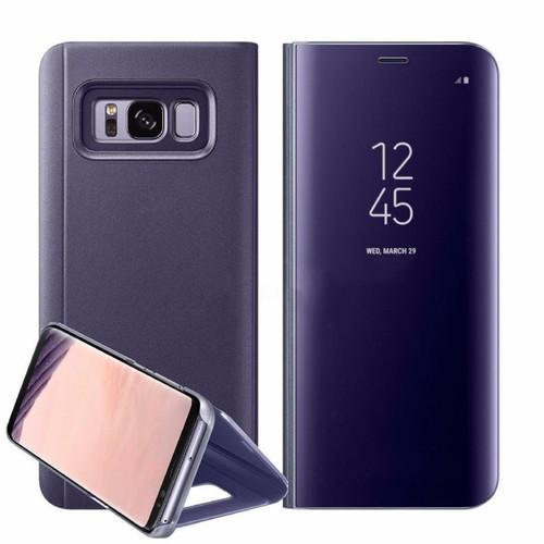Samsung Galaxy A3  2017  Purple  Smart View Mirror Flip Stand Case Cover