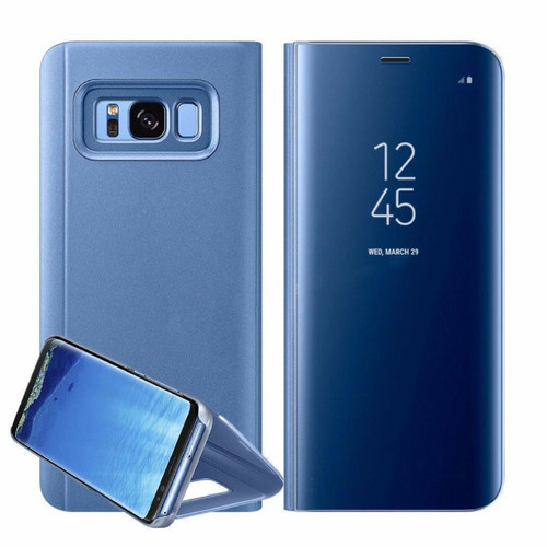 Samsung Galaxy A3  2017  Blue  Smart View Mirror Flip Stand Case Cover
