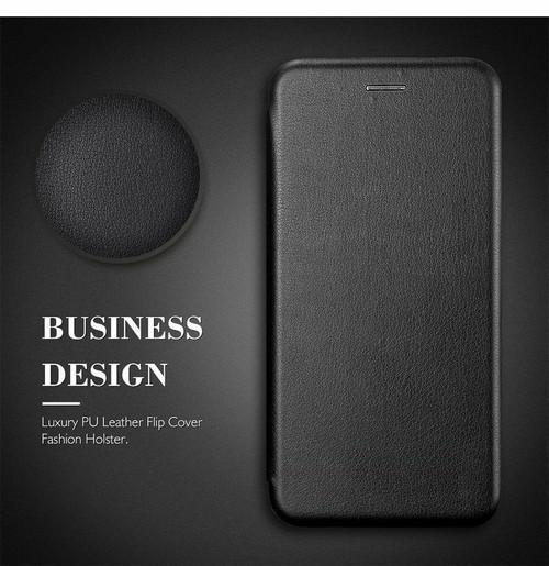 Samsung Galaxy A3  2017 Black  Luxury Leather Smart Flip  Wallet Slim Cover