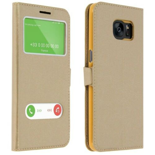 Samsung Galaxy A3  2017  Gold Double Window view case