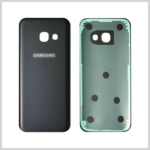 Samsung Galaxy A3  2017  Black Glass Rear Back Battery  Housing  Cover