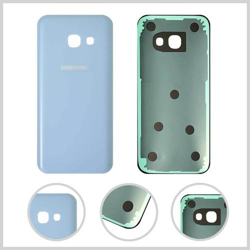 Samsung Galaxy A3  2017  Blue Glass Rear Back Battery  Housing  Cover
