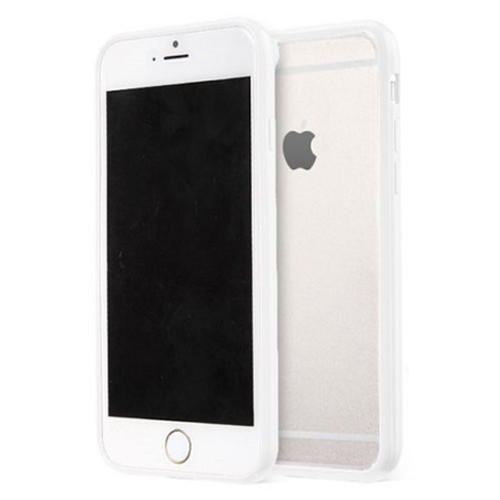 Apple iPhone 8 Clear Transparent Back Hard Case TPU Silicone Bumper Cove White