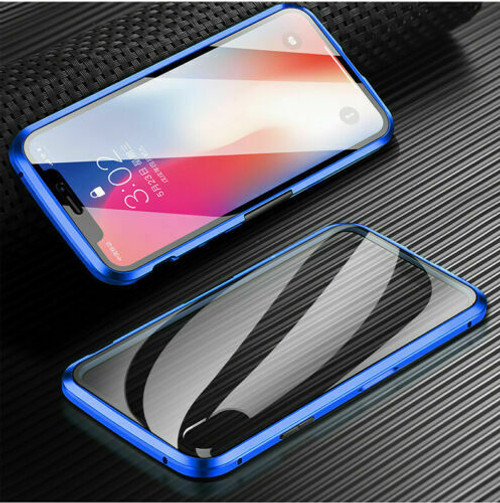iPhone SE (2020)  Blue Magnetic Adsorption Tempered Glass Cover