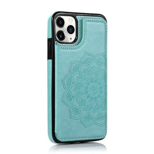 iPhone SE (2020)  Green Pattern Leather  Magnetic Wallet Card Holder Case
